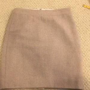 J. Crew Petite Creme Wool Pencil Skirt